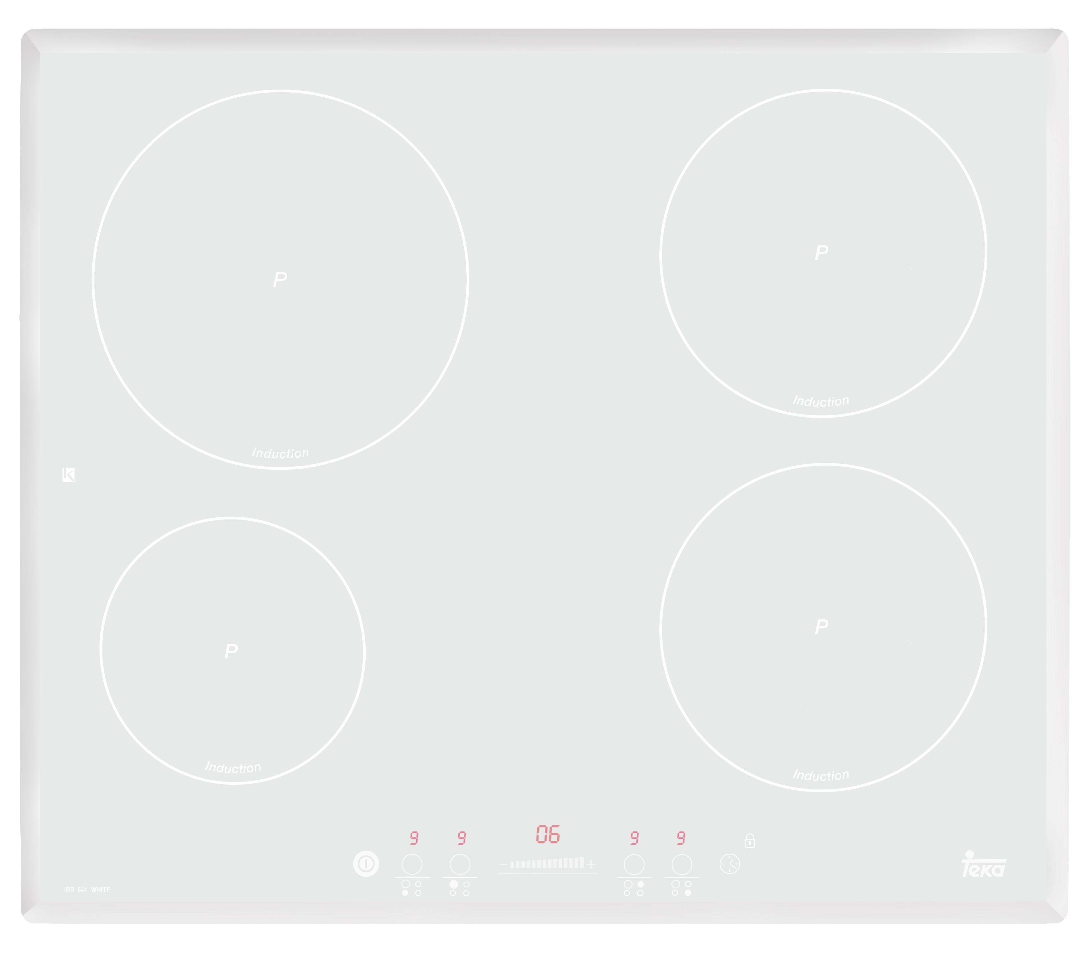 Plita inductie incorporabila Teka IRF 641 4 zone Teka FLEX timer white