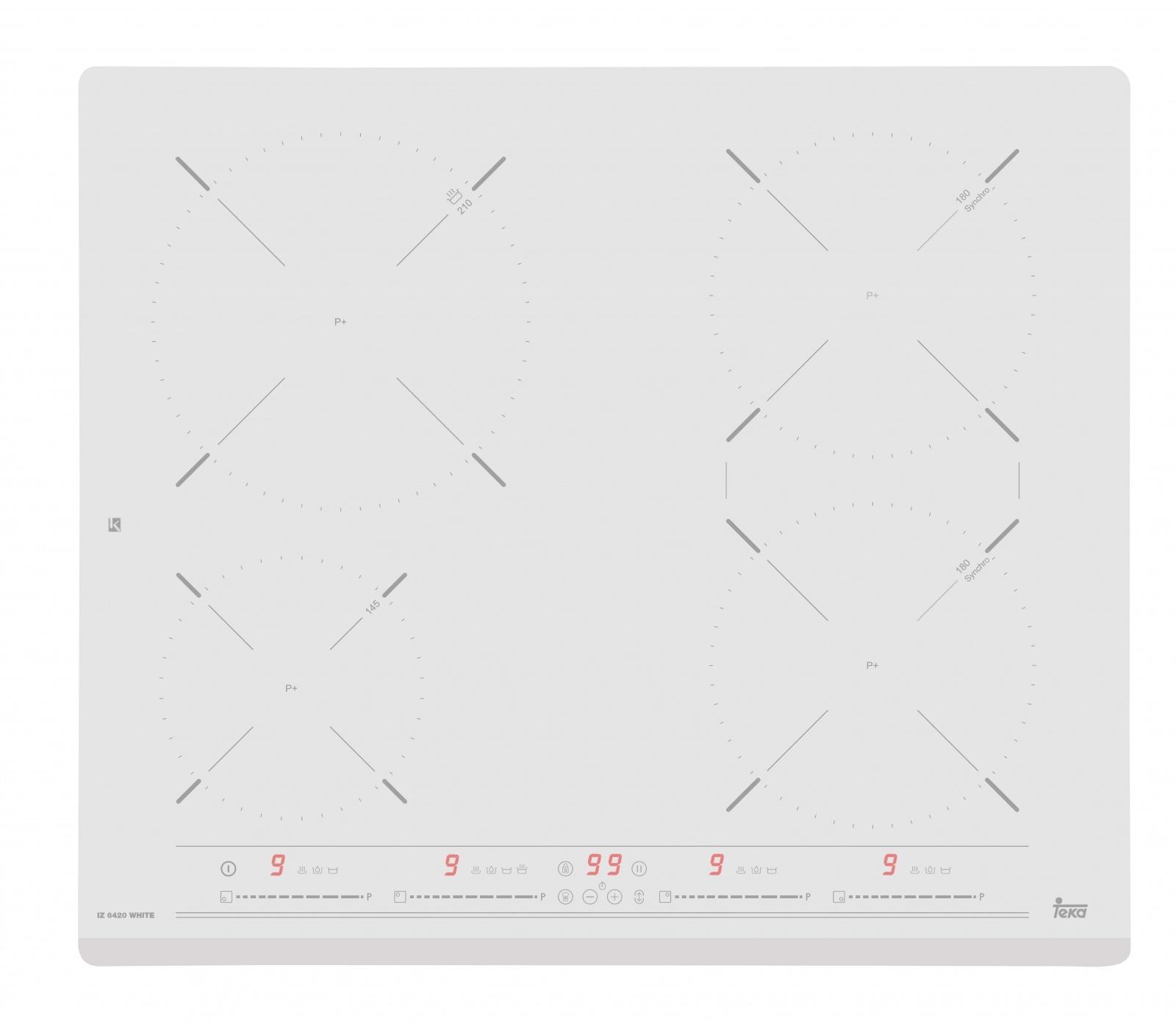 Plita inductie incorporabila Teka IZ 6420 cu 4 zone 60cm alb
