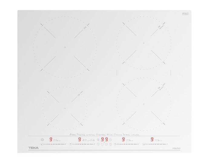 Plita inductie incorporabila Teka IZC 64630 cu 4 zone 60cm MultiSlider Touch Control alb poza