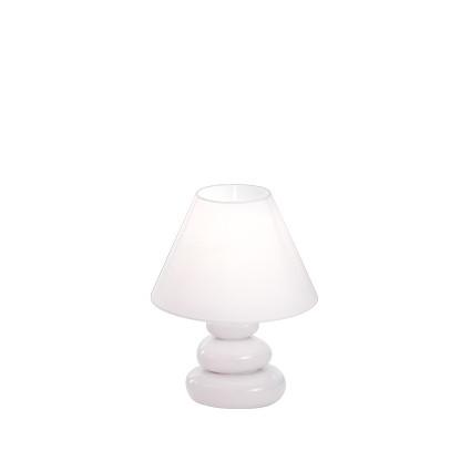 Veioza Ideal Lux K2 TL1 1x40W 20x26.5cm alb imagine