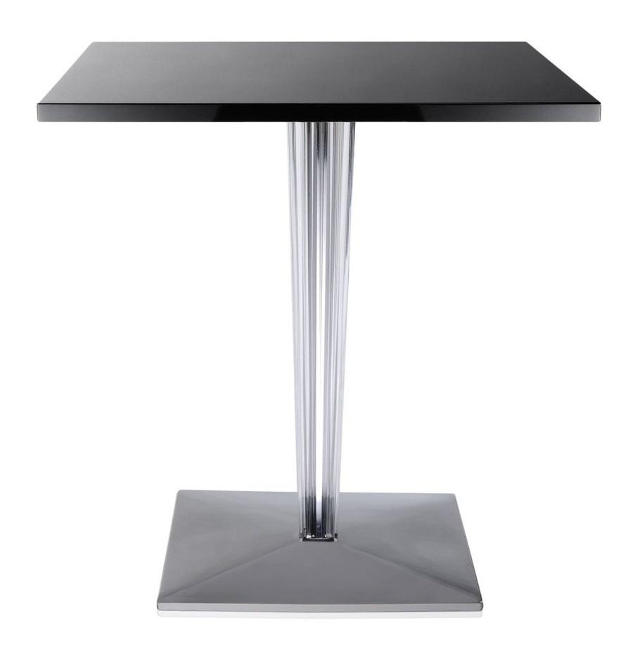Masa Kartell TopTop design Philippe Starck & Eugeni Quitllet 70x70cm negru