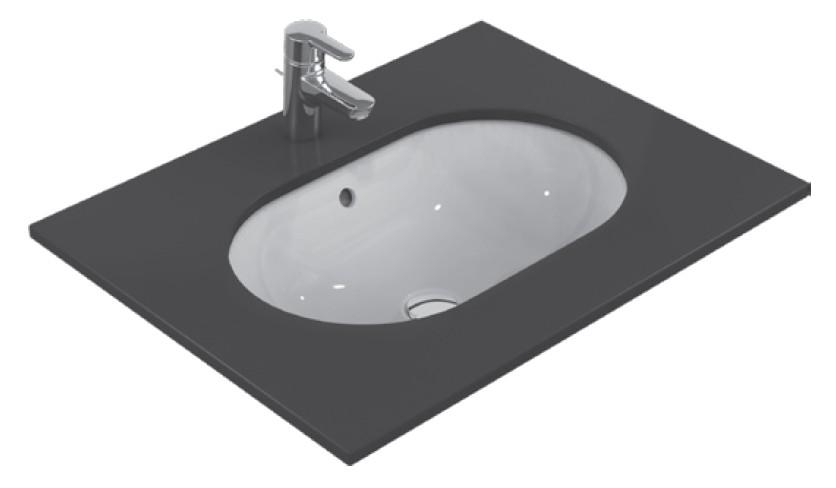 Lavoar Ideal Standard Connect Oval 48x35cm montare sub blat poza
