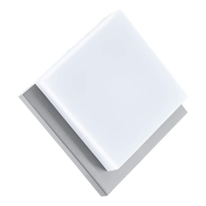 Aplica de exterior cu LED Eglo Modern Infesto 1 8.2W 25x25cm inox imagine sensodays.ro