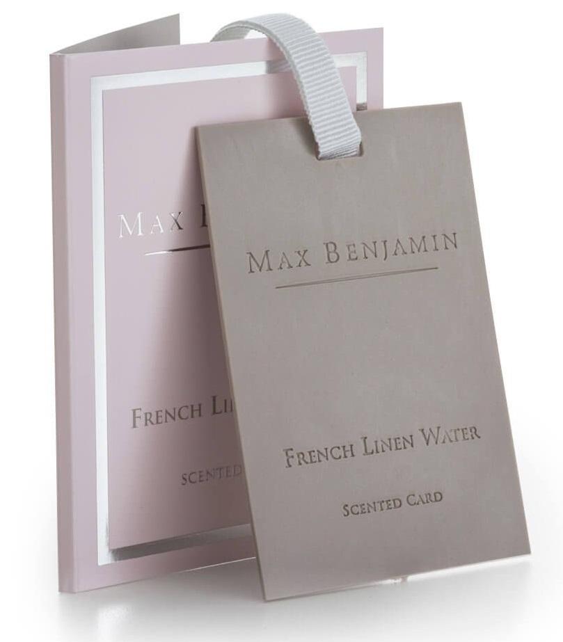 Card parfumat Max Benjamin Classic French Linen Water poza