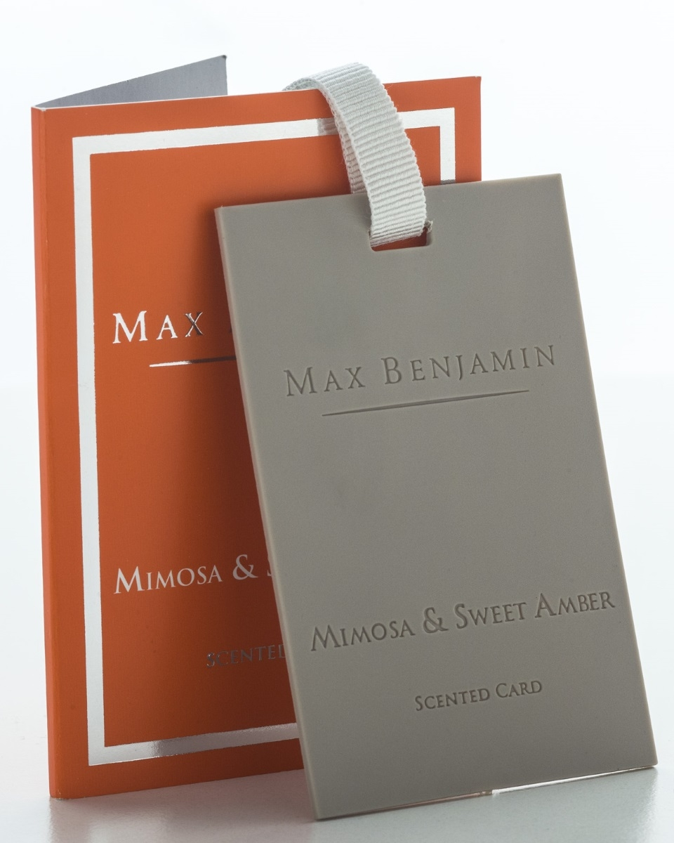 Card parfumat Max Benjamin Classic Mimosa & Sweet Amber poza