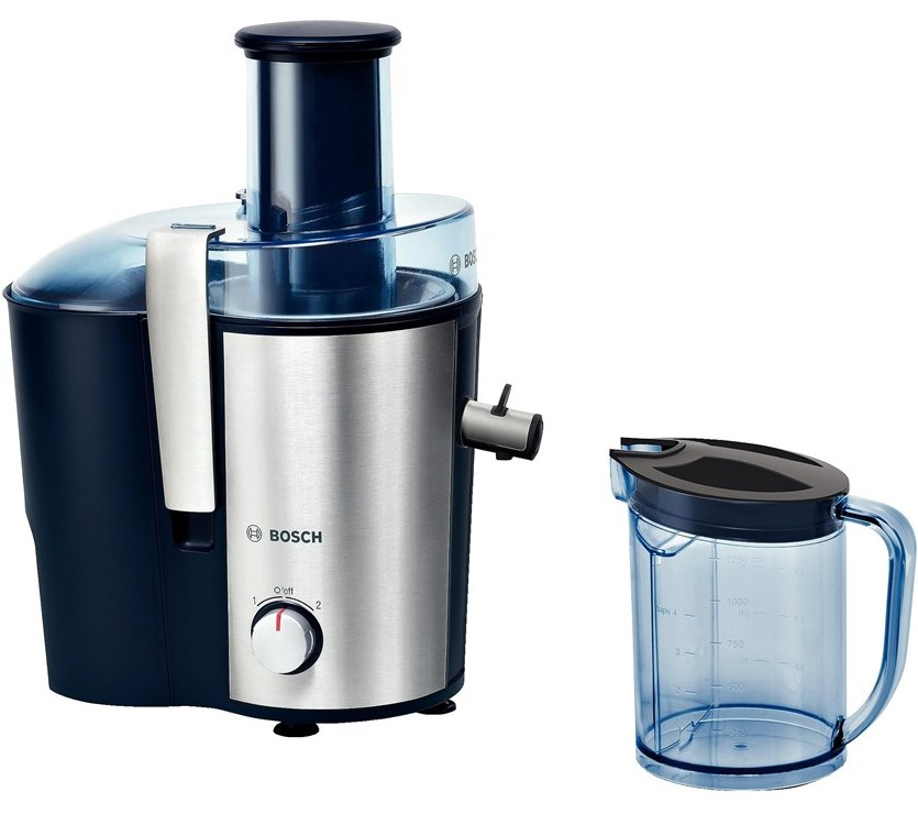 Storcator de fructe si legume Bosch MES3500 700W tub alimentare XL albastru - silver inox