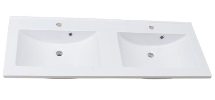 Lavoar dublu Sanotechnik Soho 120x50cm montare pe mobilier compozit alb poza