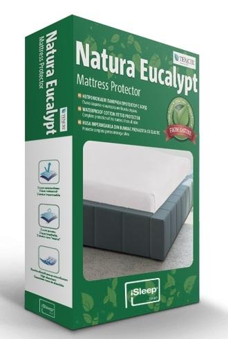 Protectie saltea iSleep Natura Eucalypt 120x200cm impermeabila poza