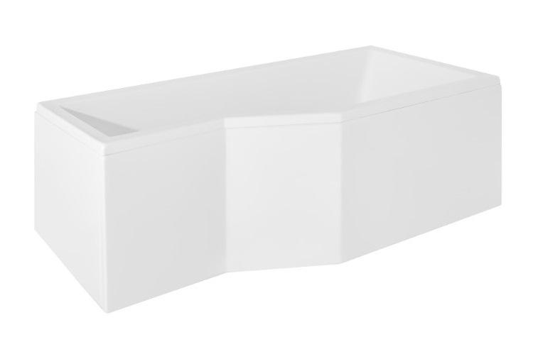 Cada baie asimetrica Besco Integra 170x75cm acril orientare dreapta poza