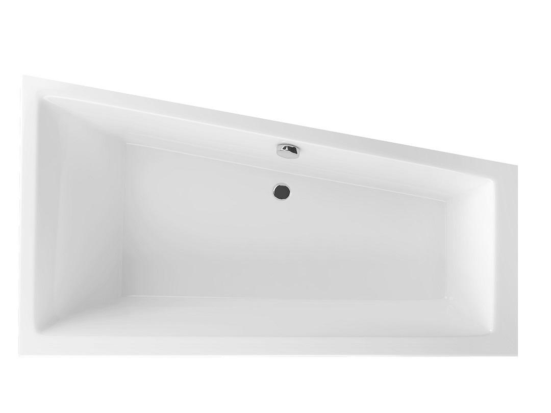 Cada asimetrica Radaway Palea 160x95cm dreapta