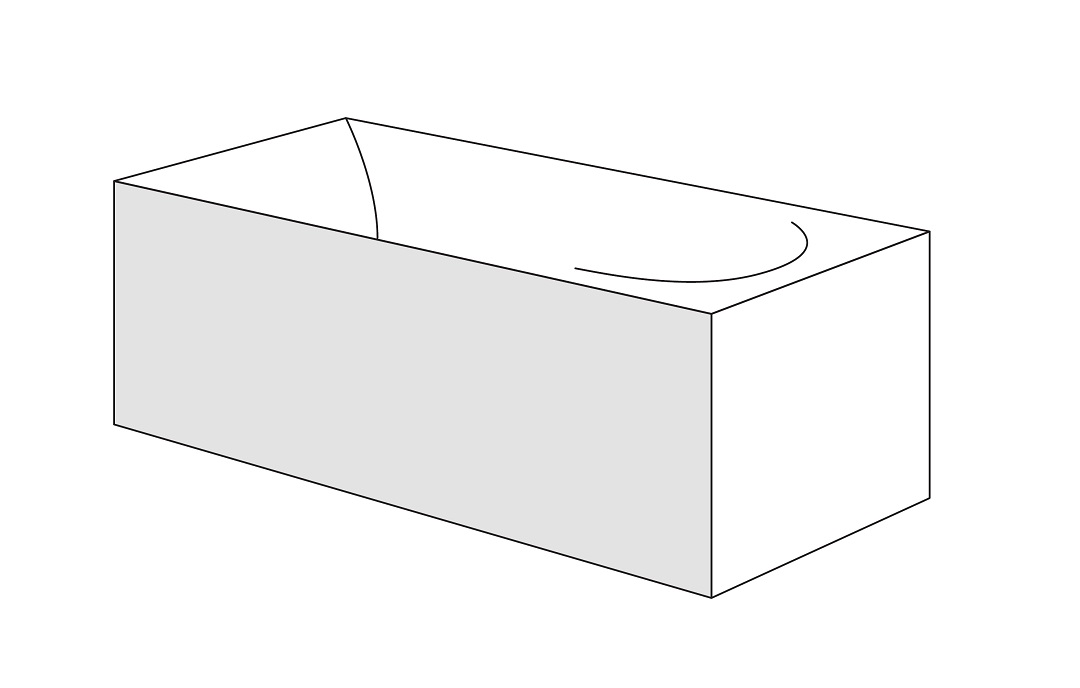 Panou frontal Radaway pentru cazi rectangulare 170cm h56cm imagine sensodays.ro