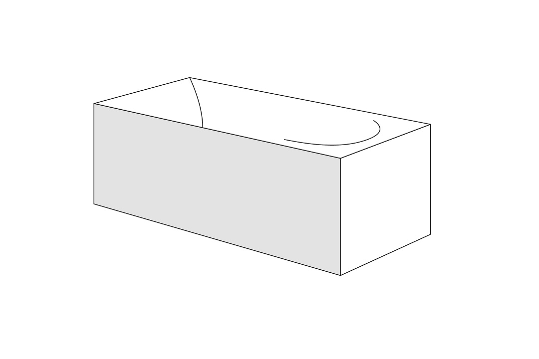 Panou frontal pentru cada Radaway Evia 150x80cm dreapta h56cm