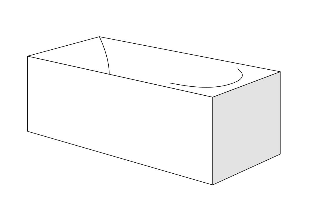 Panou lateral Radaway pentru cazi rectangulare 90cm h58cm imagine sensodays.ro