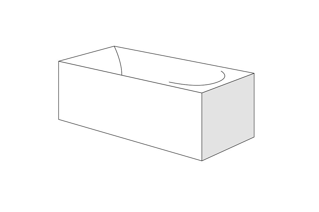 Panou lateral pentru cada Radaway Palea 160x95cm h58cm