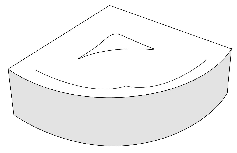 Panou frontal Radaway pentru cada Keria 150x150cm imagine