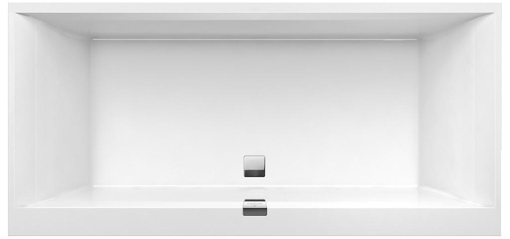 Cada baie rectangulara incastrabila Villeroy & Boch Squaro Edge 12 190x90cm compozit Alb poza