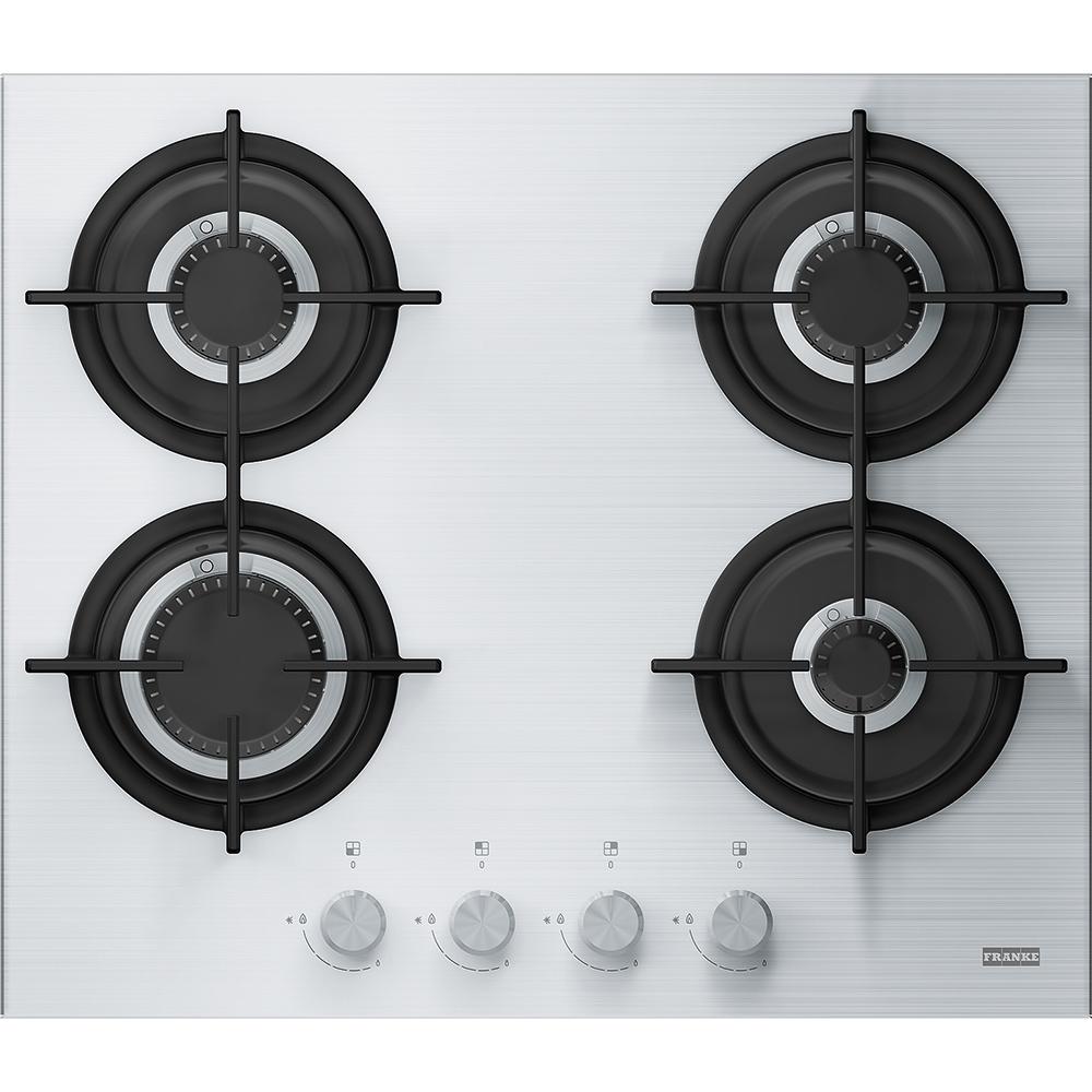 Plita gaz incorporabila Franke Crystal Steel Pro FHCR 604 4G HE XA C cu 4 arzatoare 593x513cm Inox Easy Clean poza