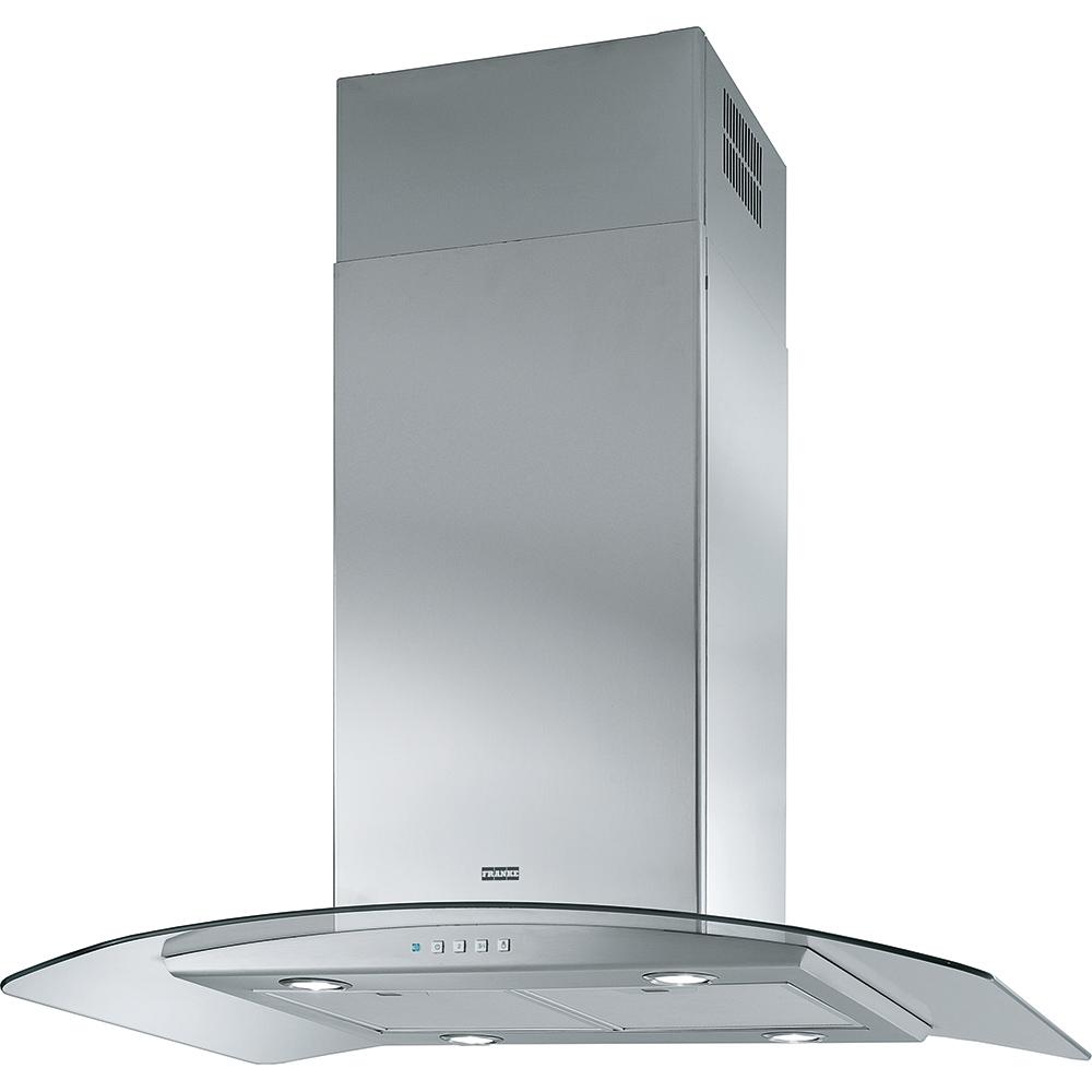Hota insula Franke Glass Soft FGC 915 I XS 90cm 250W 650 m3/h inox satinat