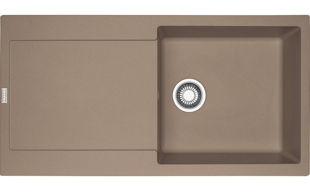 Chiuveta bucatarie fragranite Franke Maris MRG 611-L reversibila 970x500mm tehnologie Sanitized Oyster imagine sensodays.ro