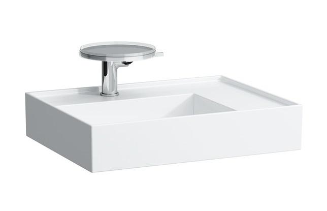 Lavoar asimetric Kartell by Laufen orientare dreapta 60x46cm alb poza