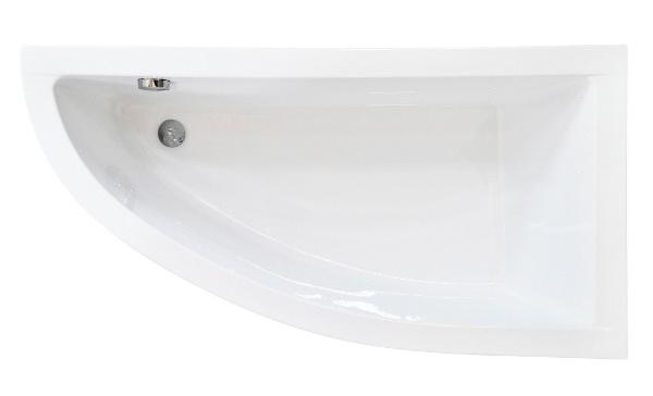 Cada baie asimetrica Besco Praktika 150x70cm acril orientare dreapta imagine