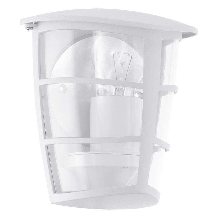 Aplica de exterior Eglo Classic Aloria 1x60W 18x20x12cm aluminiu-plastic alb imagine sensodays.ro