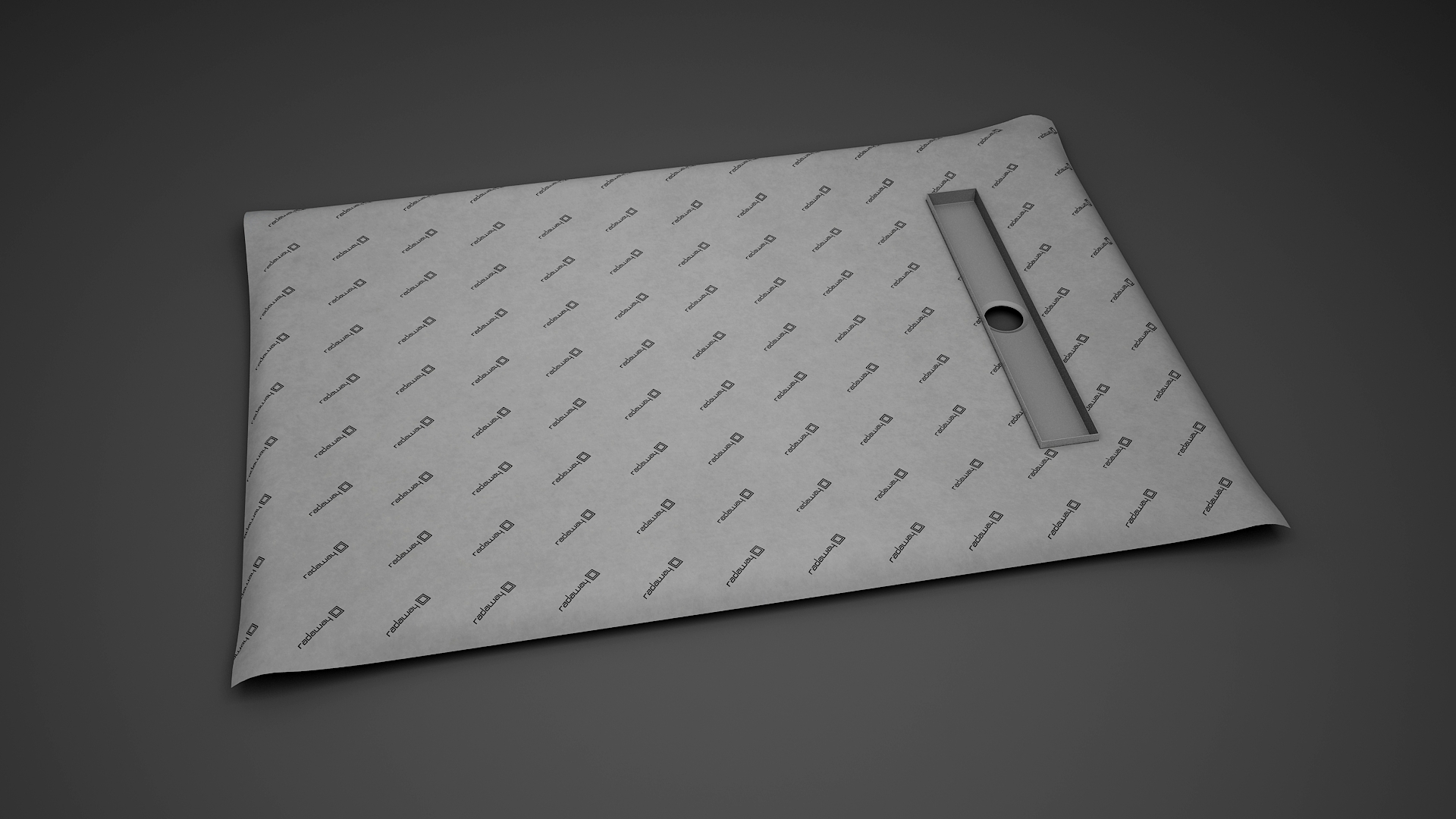 Kit rigola de dus Radaway pe latura scurta RadaDrain 90x80cm placare 8-12mm poza