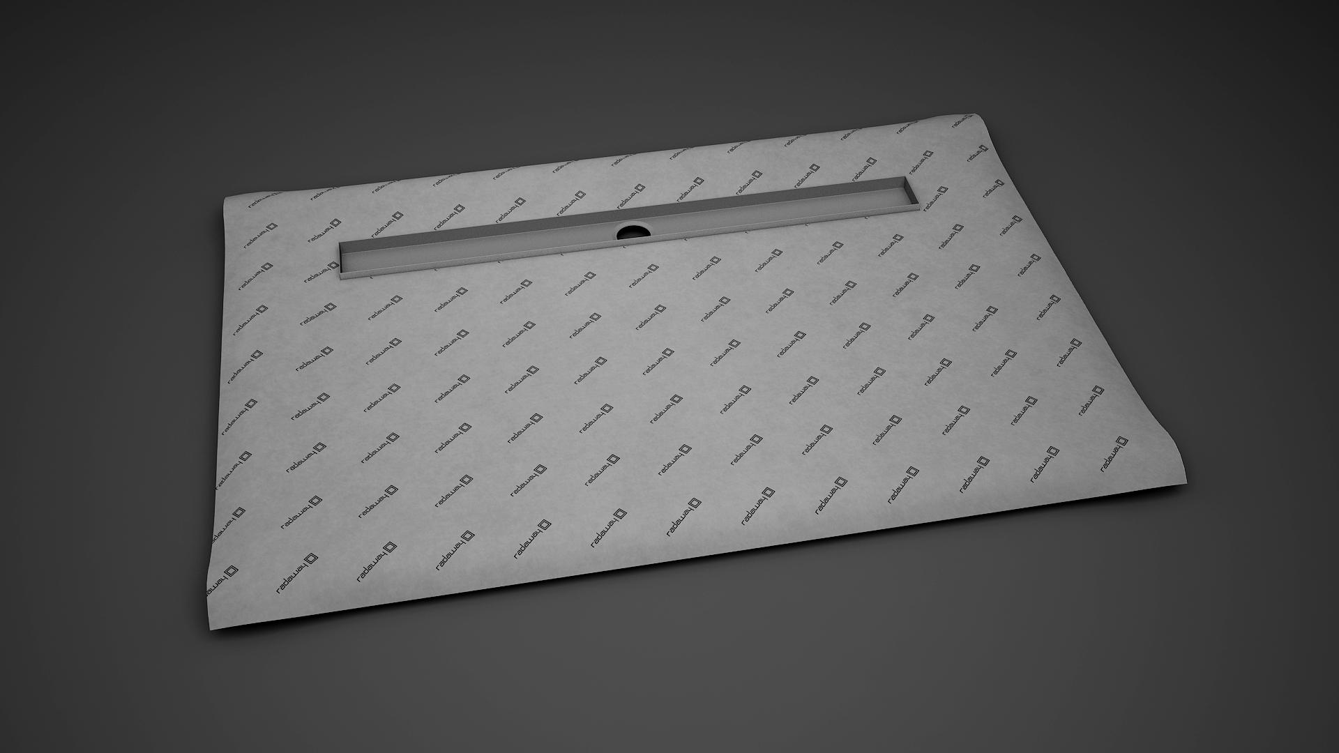 Kit rigola de dus Radaway pe latura lunga RadaDrain 120x80cm placare 8-12mm