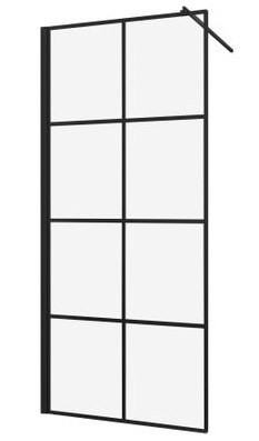 Cabina de dus tip Walk-in Sanotechnik Soho Black Edition Elite 90cm imagine sensodays.ro
