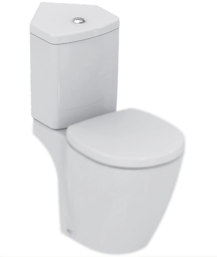 Rezervor wc Ideal Standard Connect Space Compact cu montaj pe colt imagine sensodays.ro