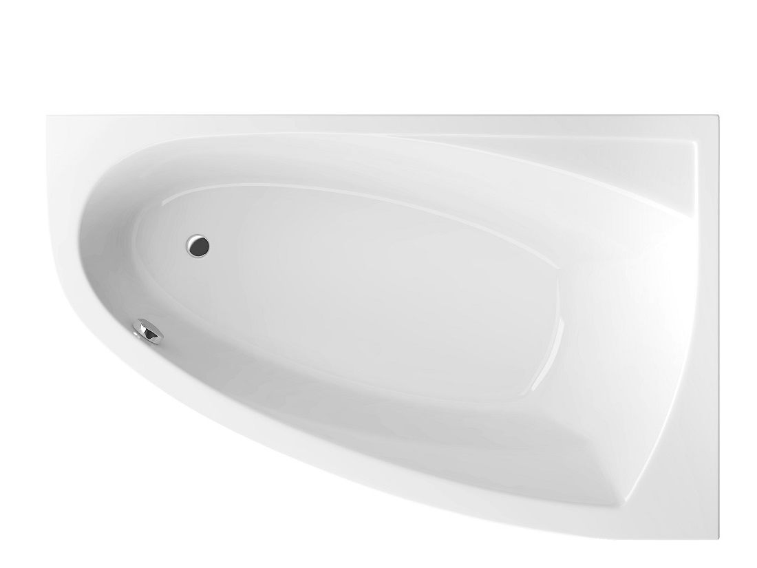 Cada baie asimetrica Radaway Rineia 150x95cm acril orientare dreapta