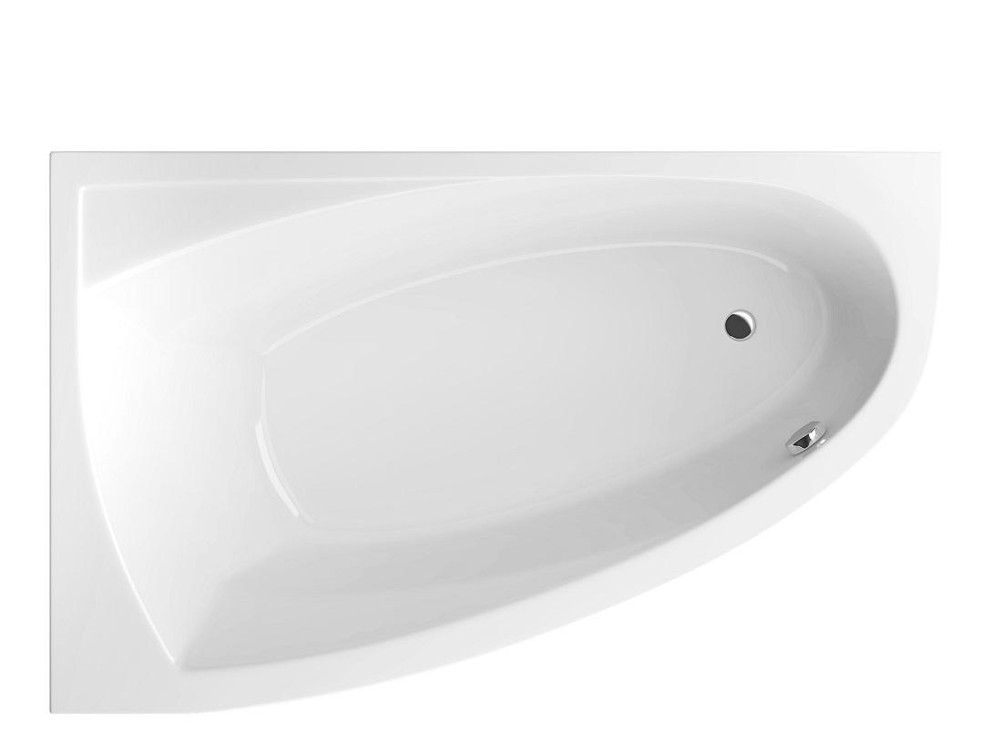 Cada baie asimetrica Radaway Rineia 160x100cm acril orientare stanga
