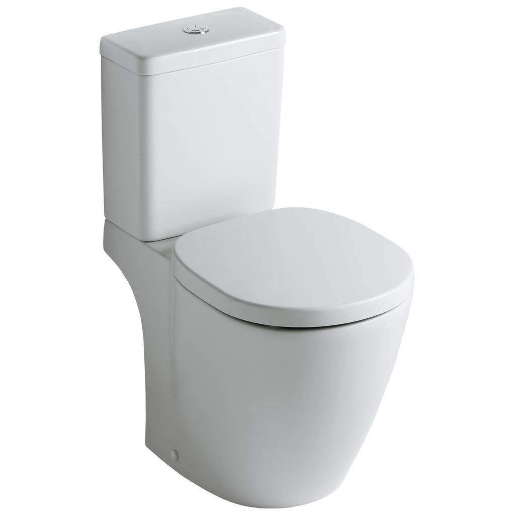 Set complet vas WC Ideal Standard Connect Cube cu rezervor si capac inchidere lenta