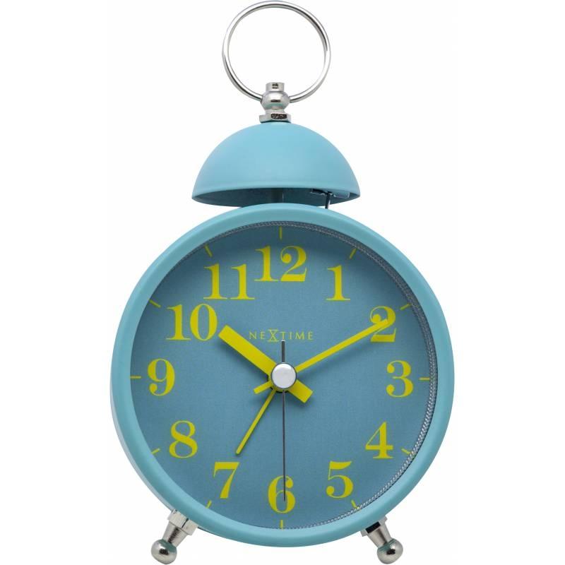 Ceas de masa NeXtime Single Bell 16cm Turquoise poza