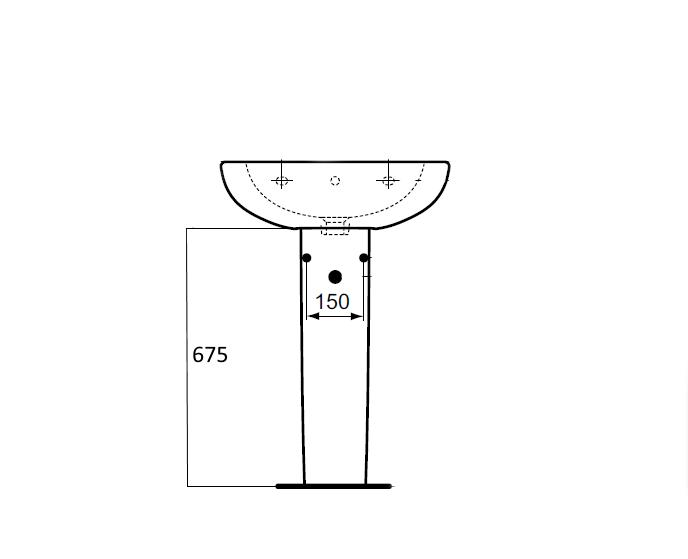 Picior lavoar Ideal Standard Tesi imagine sensodays.ro