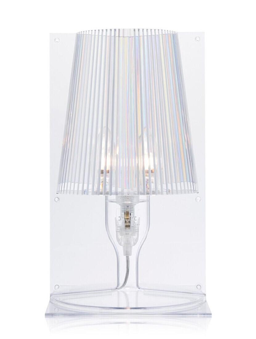 Veioza Kartell Take design Ferruccio Laviani E14 max 28W h30cm transparent
