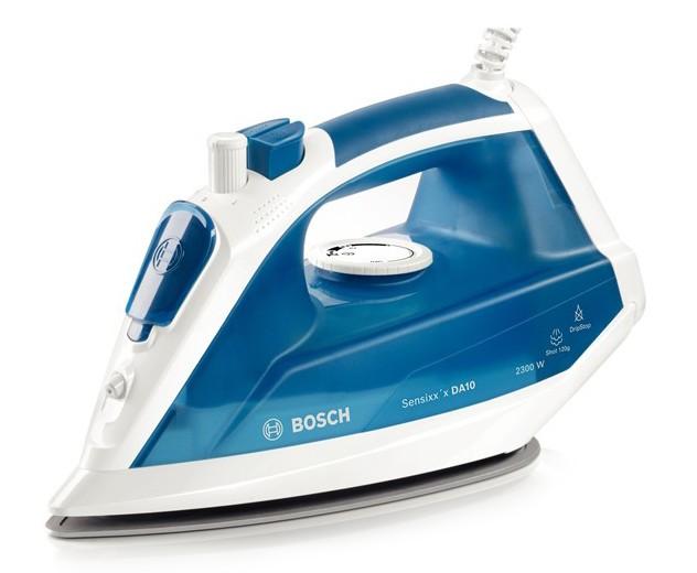 Fier de calcat Bosch TDA1023010 Sensixxx DA10 3AntiCalc 2300W talpa PalladiumGlissee alb / smokey blue