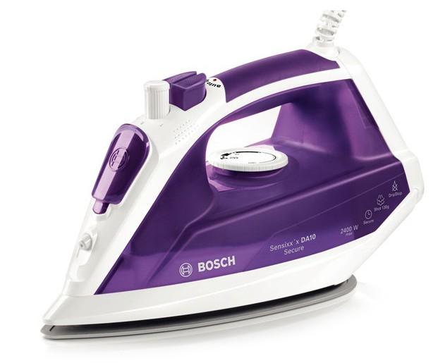Fier de calcat Bosch TDA1024110 Sensixxx DA10 Secure 3AntiCalc 2400W talpa PalladiumGlissee alb / violet inchis