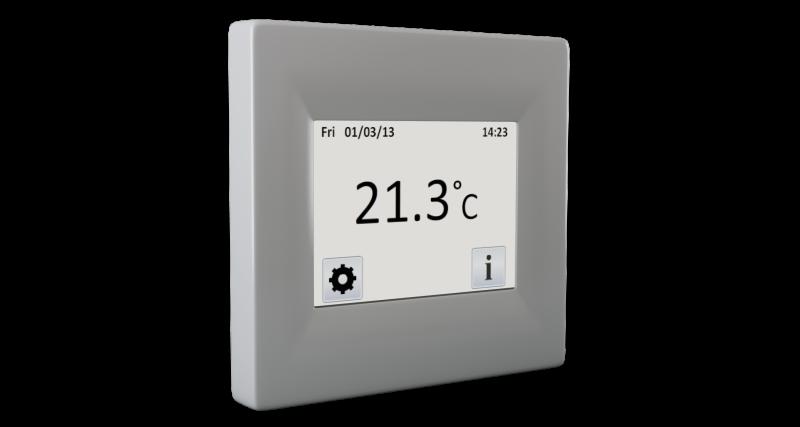 Termostat digital de interior FENIX TFT cu touchscreen imagine sensodays.ro