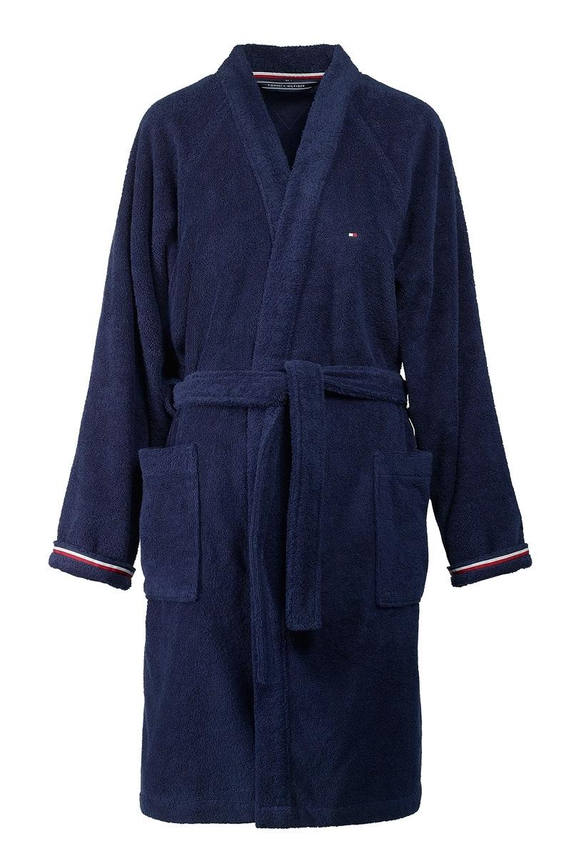 Halat de baie kimono Tommy Hilfiger Plain 3 L Albastru Navy poza