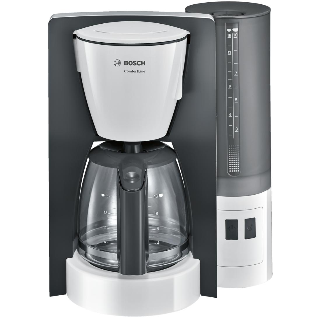 Cafetiera Bosch TKA6A041 ComfortLine 1.25 litri 1200W alb - gri inchis