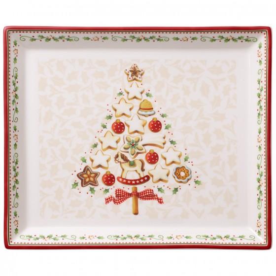 Platou rectangular Villeroy & Boch Winter Bakery Delight 27x22.5cm imagine