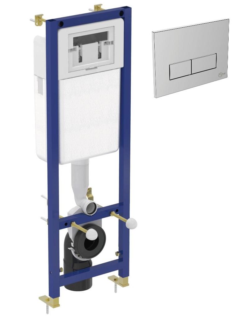 Imagine Set Rezervor Incastrat Ideal Standard Cu Cadru Metalic Si Clapeta