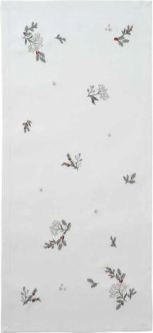 Fata de masa Sander Embroidery Winter Dream 85x85cm 29 Ecru poza