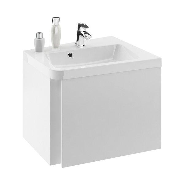 Dulap baza pentru lavoar de colt Ravak Concept 10° cu un sertar 65x53.5x45cm dreapta alb