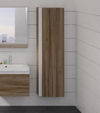 Dulap inalt tip coloana Ravak Concept 10° cu o usa 45x29x160cm nuc inchis poza