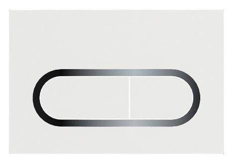 Clapeta rezervor Ravak Concept Chrome alb