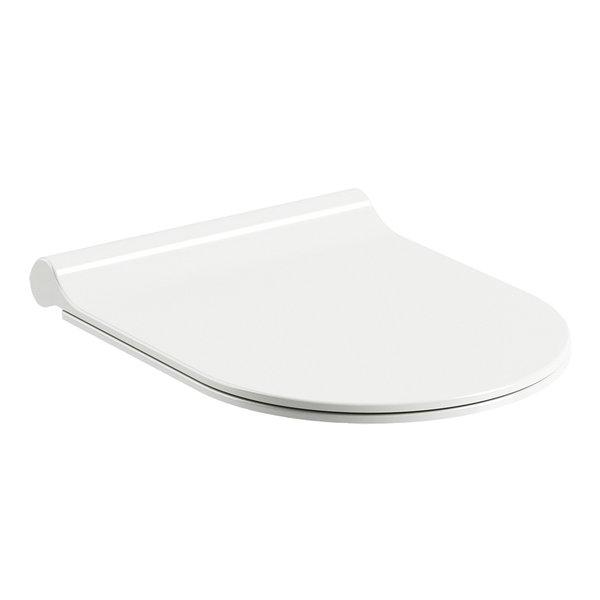 Capac WC Ravak Concept Chrome Uni slim cu inchidere lenta alb poza