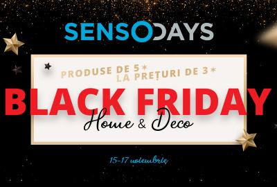 Black Friday cu SensoDays - branduri premium de 5* la pret de 3*