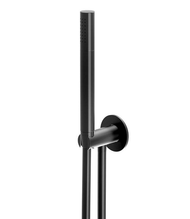 Set de dus Steinberg Seria 100 Matt Black cu para de dus furtun 150 cm si agatatoare FixFit imagine